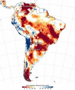 El mapa presentado por la NASA.